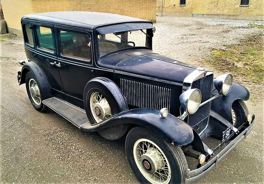 "1931 Hupmobile New Century Model ""S"", dansk bil fra ny!"